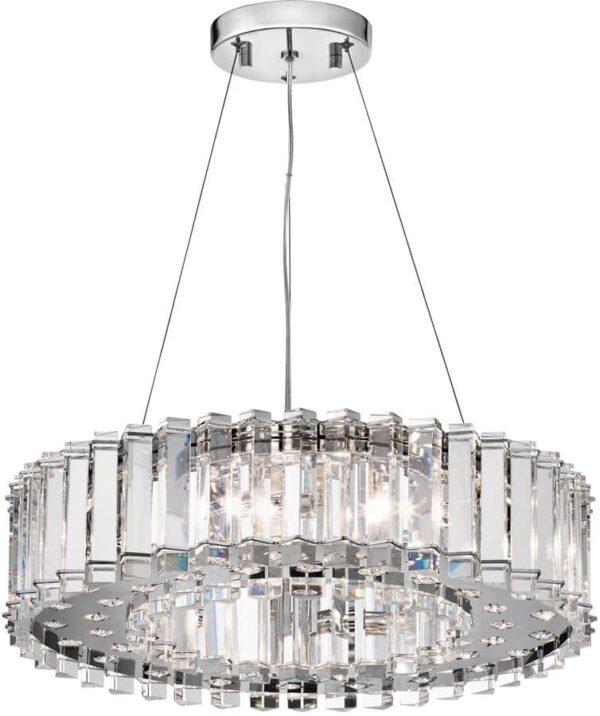 Kichler Crystal Skye Large 8 Light Chandelier Polished Chrome IP44