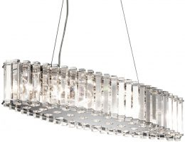 Kichler Crystal Skye 8 Light Island Chandelier Pendant Polished Chrome