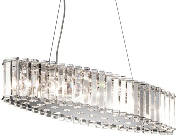 Kichler Crystal Skye 8 Light Island Chandelier Polished Chrome IP44
