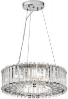 Kichler Crystal Skye Medium 6 Light Chandelier Pendant Polished Chrome