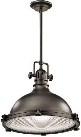 Kichler Hatteras Bay Large Industrial Kitchen Pendant Olde Bronze