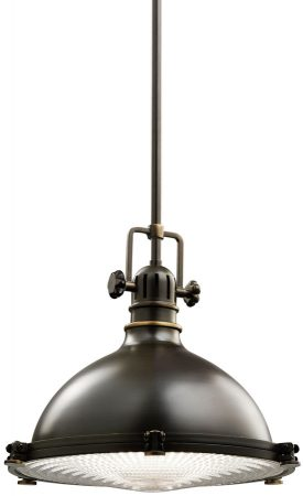 Kichler Hatteras Bay Medium Industrial Kitchen Pendant Olde Bronze