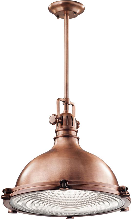 Kichler Hatteras Bay Extra Large Industrial Kitchen Pendant Antique Copper