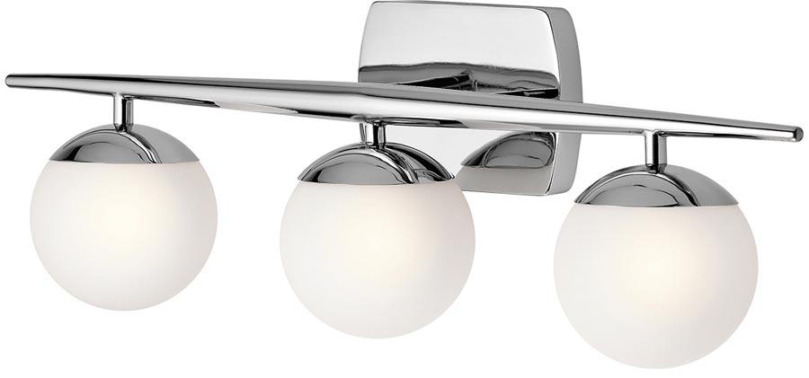 Outstanding Kichler Jasper Polished Chrome 3 Light Bathroom Wall Light Best Image Libraries Barepthycampuscom