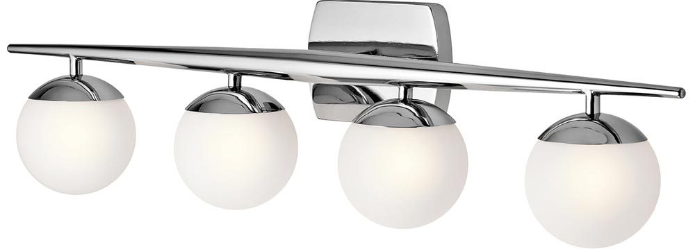Superb Kichler Jasper Polished Chrome 4 Light Bathroom Wall Light Opal Globes Best Image Libraries Barepthycampuscom