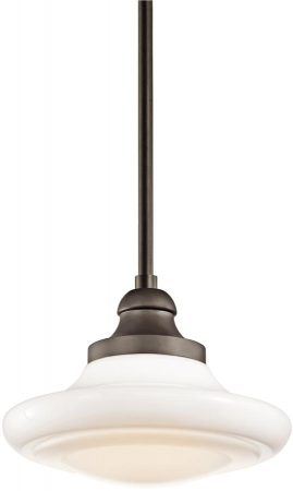 Kichler Keller Medium 1 Light Dual Mount Olde Bronze Pendant