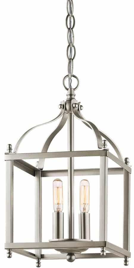 Kichler Larkin Brushed Nickel 2 Light Small Hall Lantern