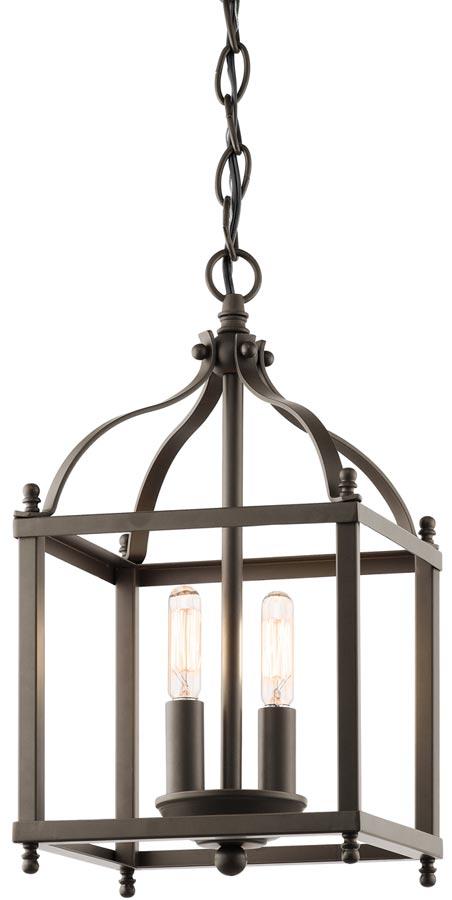 Kichler Larkin Olde Bronze 2 Light Small Hall Lantern