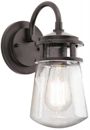 Kichler Lyndon 1 Light Small Outdoor Wall Lantern Architectural Bronze
