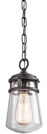 Kichler Lyndon 1 Light Hanging Outdoor Porch Lantern Architectural Bronze