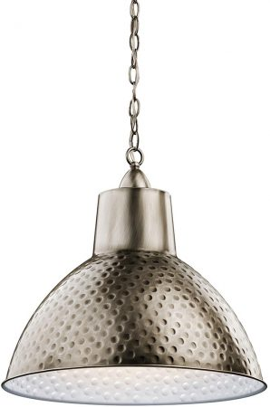 Kichler Missoula 1 Light Medium Ceiling Pendant Hammered Antique Pewter