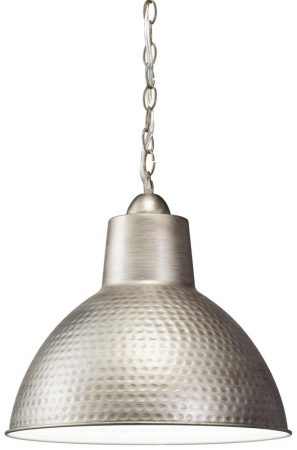 Kichler Missoula 1 Light Small Ceiling Pendant Hammered Antique Pewter