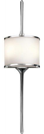 Kichler Mona Large 2 Light Wall Light Polished Chrome Opal Glass IP44