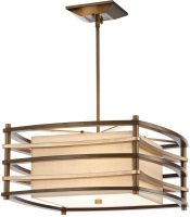 Kichler Moxie Small Retro 2 Light Pendant Cambridge Bronze