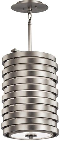 Kichler Roswell Designer 1 Light Pendant Brushed Nickel