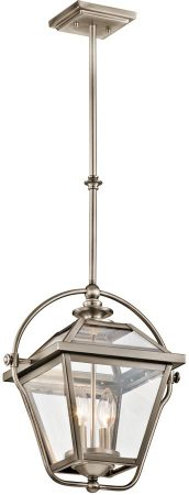 Kichler Ryegate Antique Pewter 2 Light Pendant Lantern