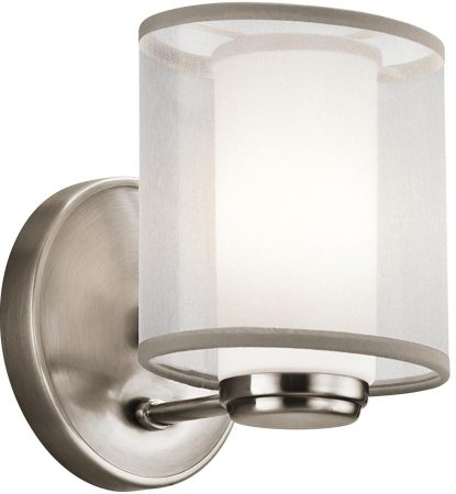 Kichler Saldana 1 Light Organza Fabric Wall Lamp Classic Pewter