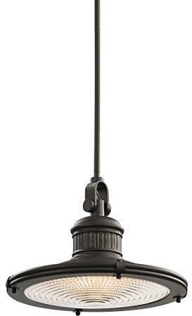 Kichler Sayre 1 Light Large Industrial Pendant Olde Bronze