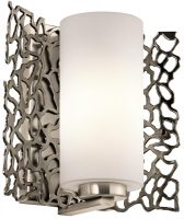 Kichler Silver Coral Contemporary Single Wall Light Pewter