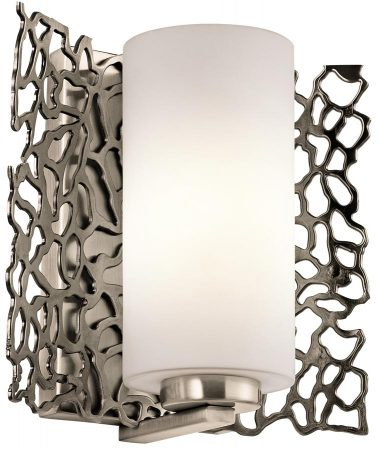 Kichler Silver Coral 1 Light Single Wall Light Classic Pewter