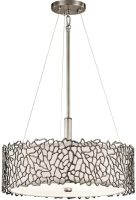 Kichler Silver Coral Dual Mount 3 Light Classic Pewter Pendant