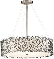 Kichler Silver Coral Dual Mount 4 Light Classic Pewter Pendant