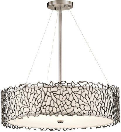 Kichler Silver Coral 4 Light Duo Mount Pendant Classic Pewter