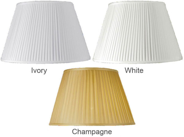 Empire Knife Pleat 12 Inch Ceiling / Table Lamp Shade Colour Choice