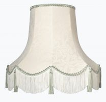 Handmade Quality Tassel Floor Lampshade Cream and Gold