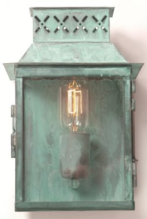 Lambeth Palace Verdigris Solid Brass Period Garden Wall Light