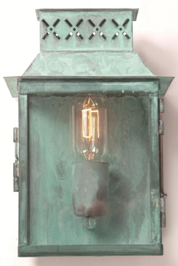 Lambeth Palace Verdigris Solid Brass Period Garden Wall Light