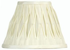 Pinch Pleated 14 inch Ivory Faux Silk Lamp Shade