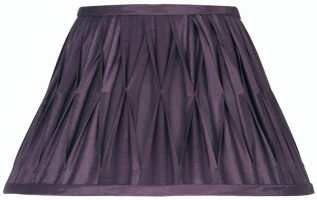 Pleated 5 Inch Plum Faux Silk Clip On Lamp Shade