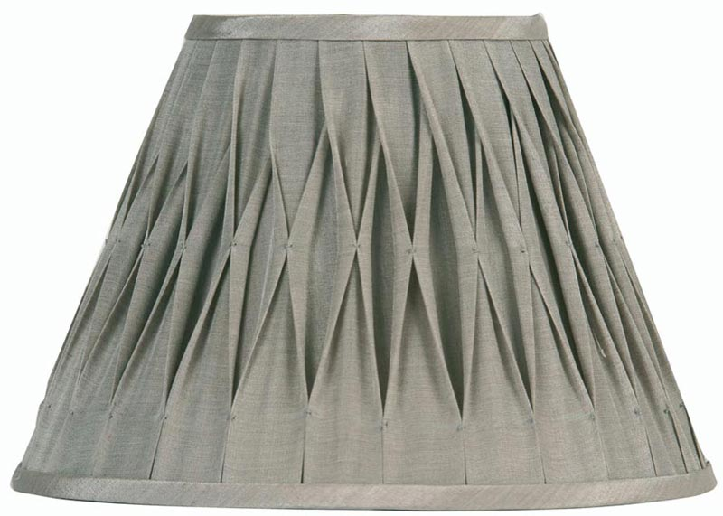 Pinch pleated 16 inch soft grey faux silk lamp shade universal pinch pleated 16 inch soft grey faux silk lamp shade aloadofball Image collections