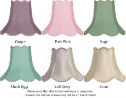 Scalloped 5 Inch Clip On Lamp Shade Choice 6 Colours
