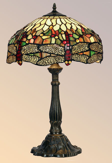 Captivating Large Dragonfly 400mm Tiffany Table Lamp
