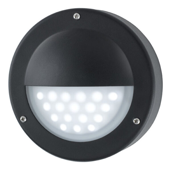 Modern LED Outdoor Mini Garden Wall Step Light Black