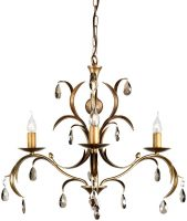 Lily Antique Bronze Italian Style 3 Light Chandelier UK Made