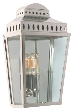 Elstead Mansion House Solid Brass Polished Nickel Outdoor Wall Lantern