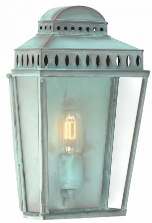 Elstead Mansion House Verdigris Solid Brass Outdoor Wall Lantern