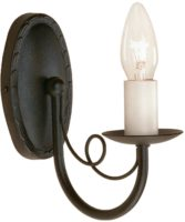 Minster Textured Black Traditional 1 Arm Gothic Wall Light