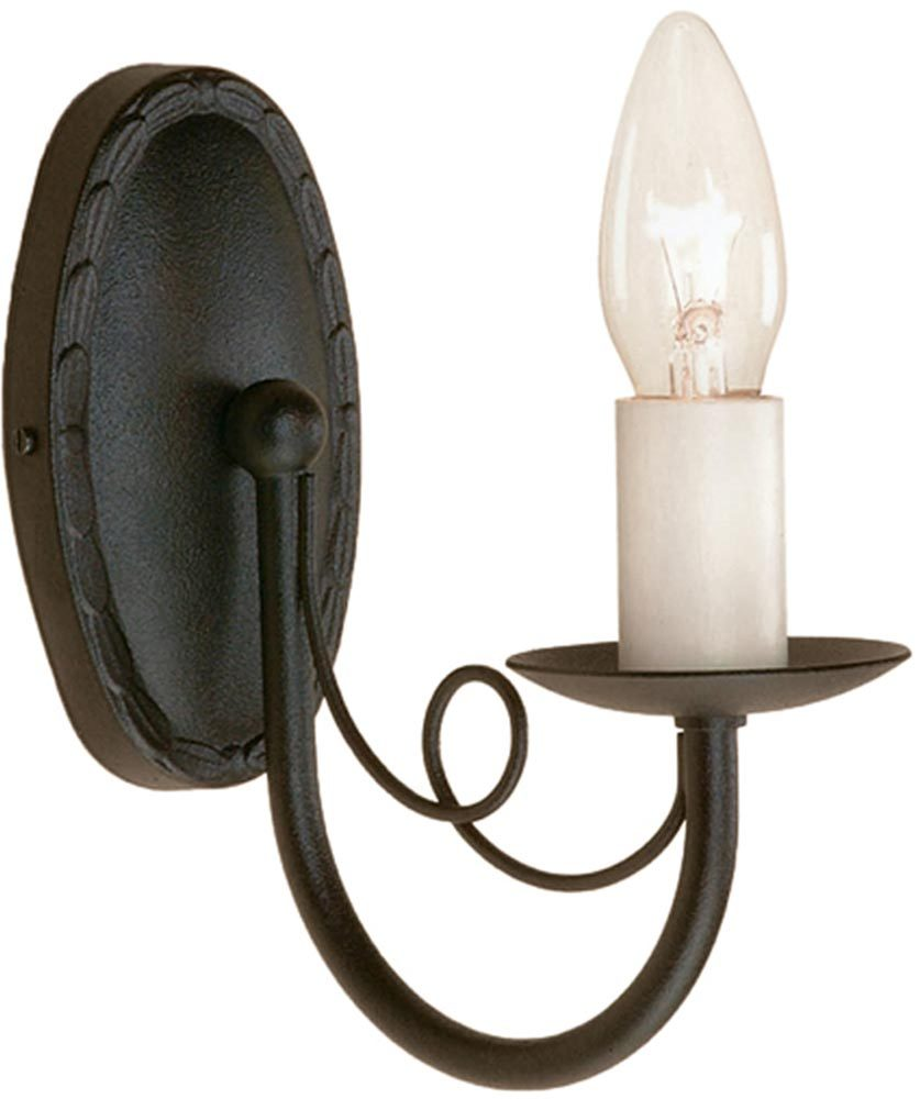 Exterior: Minster Textured Black Traditional 1 Arm Gothic Wall Light