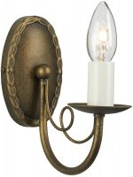 Minster Black And Gold Traditional 1 Arm Gothic Wall Light