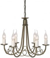Minster Black And Gold 6 Light Dual Mount Gothic Chandelier