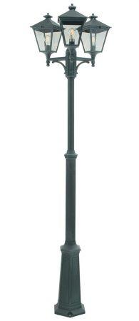 Norlys Turin 3 Lantern Triple Outdoor Lamp Post Verdigris
