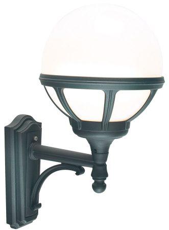 Norlys Bologna Upward Outdoor Wall Lantern Black Opal Globe IP54