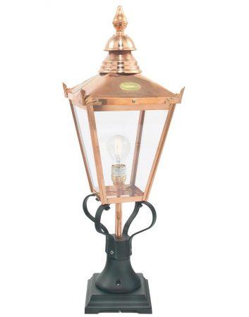 Norlys Chelsea Grande Pure Copper Outdoor Pedestal Lantern