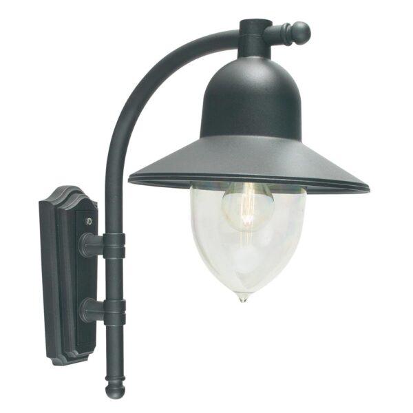 Norlys Como 1 Light Outdoor Wall Lantern Black