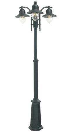 Norlys Como 3 Lantern Outdoor Lamp Post Black