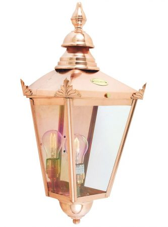 Norlys Chelsea 1 Light Copper Flush Outdoor Wall Lantern